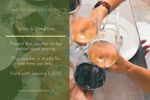 Vintage wine bar athens bistro voucher 30
